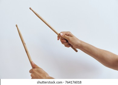 drum sticks on a light background