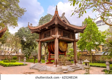 drum tower in Temple of Literature, Hanoi, Vietnam