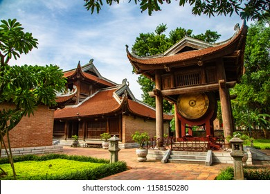 Drum tower in the Temple of Literature,hanoi,veitnam(this place is public place to visit)