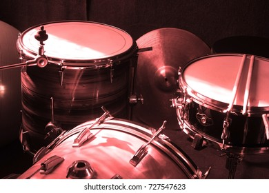 Drumers conceptual image - drums and drumsticks