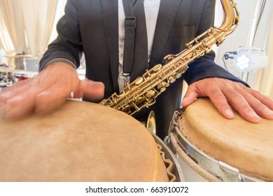 Drummer player jazz orchestra music