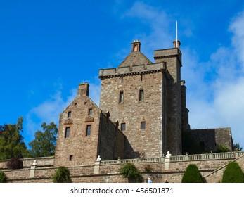 Drummond Castle in Scotland