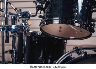 Drums in studio.
