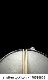 Drumstick and drum. Music background