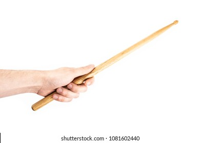 drum-stick in the hand isolate