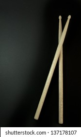 Drumsticks isolated on black background