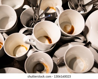 Drunk coffee cups