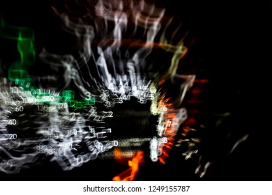 Drunk Drive the Car with Blur Light of The Highway, Blurred background, abstrac