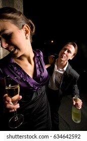 Drunk Guy Hitting On A Beautiful Woman