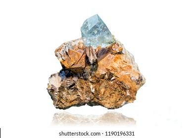 Drusa blue topaz, lenidolite, muscovite, microcline