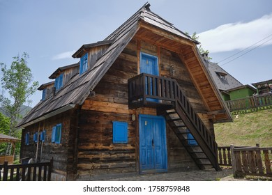 Drvengrad, Serbia - Wooden houses in traditional village built by Emir Kusturica