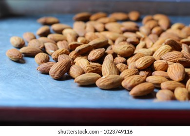 Dry almond with soft focus