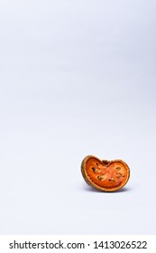 Dry Bael Fruit - Dry Bael Fruit Slices Isolated on a White Background.