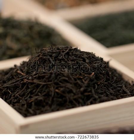 Dry Black Tea Wooden Display Case Stock Photo Edit Now 722673835