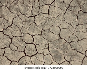 Dry and broken soil background.Bad environment concept.