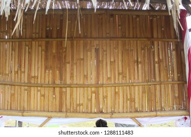Dry brown bamboo wall