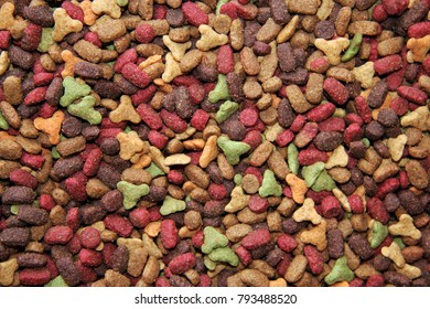 Dry cat food background