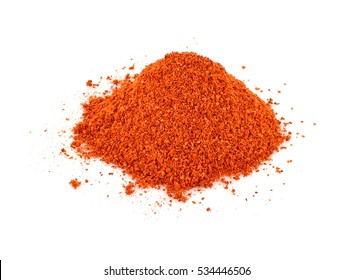 dry chilly on white background
