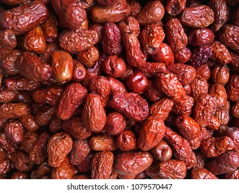 Dry Chinese date, Jujube or monkey apple for boiled with syrup. Chinese date link or Jujube link is best dessert and best tradition chinese medicine. Thai dessert : Sweet dried Chinese Jujube.