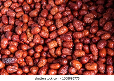 Dry Chinese date Jujube or monkey apple for boiled with syrup. Chinese date link or Jujube link is best dessert and best tradition chinese medicine. Thai dessert : Sweet dried Chinese Jujube.