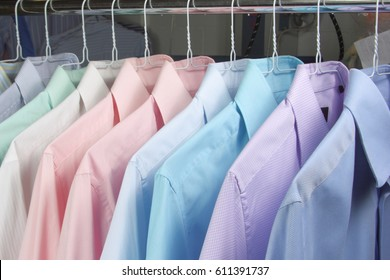 In dry cleaner ironed shirt