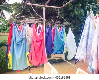 dry clothes in the sun.