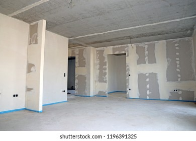Dry construction, interior shot