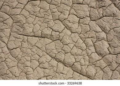 Dry, cracked, desert land