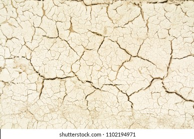 Dry cracked earth background. Cracked mud pattern. The texture of cracks in the soil