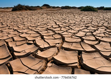 Dry cracked earth - Namib-nuakluft National Park in the Namib Desert in Namibia.