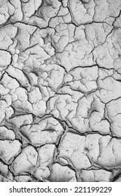 Dry cracked soil closeup before rain