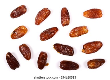 dry dates isolated on white background