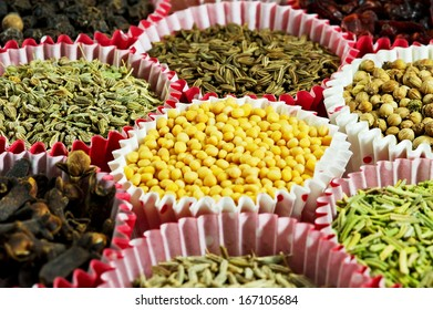 Dry different spices for cooking