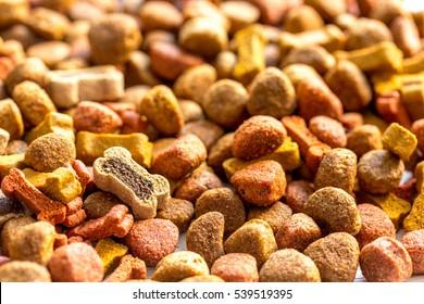 dry dog food in bulk close up