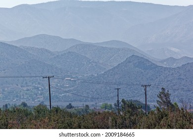 Dry, dusty, hazy Northern L.A. County. Views into the distance.