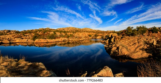 The dry environment holds the beautiful water at Wichita Mountains National Wildlife Refuge, November 2017