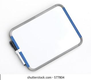 Dry erase memo board over white
