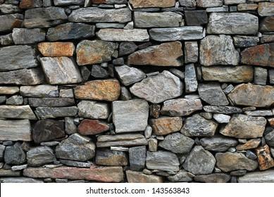 Dry farmhouse stone wall