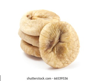 dry figs on white background