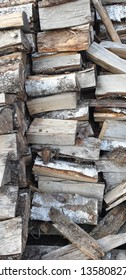 Dry firewood stack