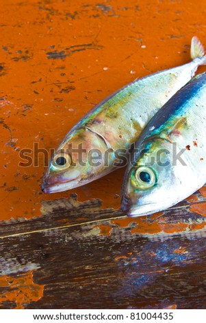 Dry Fish On Rad Table Stock Photo Edit Now 81004435 Shutterstock