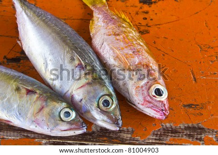 Dry Fish On Rad Table Stock Photo Edit Now 81004903 Shutterstock