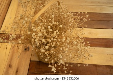 dry flower on the table
