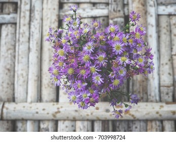 Dry flowers on the vase
