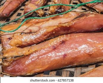Dry giant cat fish or Arius thalassinus.