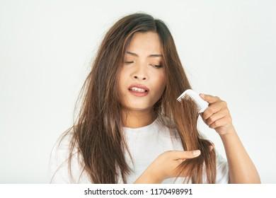 Dry hair, and rough hair problems.