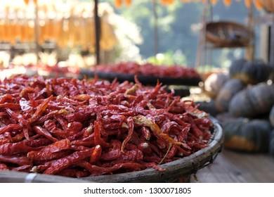 Dry hot chillis