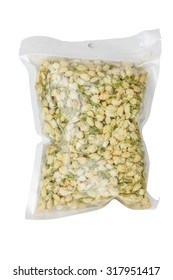 Dry jasmine in plastic bags