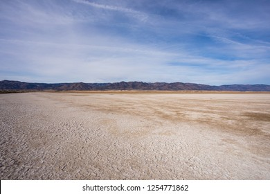 Dry lake bed at Middle Alkali Lake in the lakes region of Modoc County in Northeast California near the small town of Cedarville.