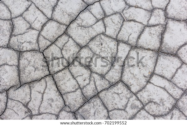 Dry lake bed with natural texture of cracked clay